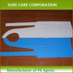 Grembiule chirurgico a gettare di alta qualità, grembiule a gettare del PE del PVC (SC-PE002)