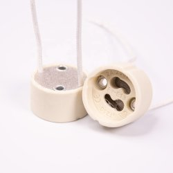 Hot vender bulbo pequeño de metal porcelana Mica portalámparas GU10