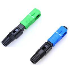 Sc/APC Sc/fibre optique de l'UPC connecteur rapide pour câble de descente FTTH