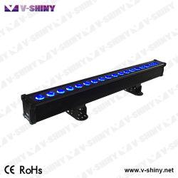 Rgbwauv 6in1 Wand-Unterlegscheibe-Stab-Verein-Licht des Pixel-wasserdichtes LED