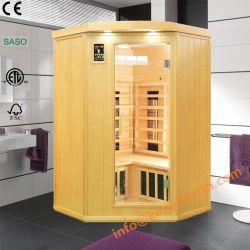 Hölzerne weites Infrarot-Sauna als Karosserien-Schönheits-Geräte geherstellt vom Schierling-Holz, trockener Bad-Sauna-Raum als persönliche Sorgfalt-heißes Therapie-Schönheits-Gerät