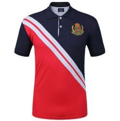 De hoge T-shirts van het Polo van de Mens van het Eind Naar maat gemaakte