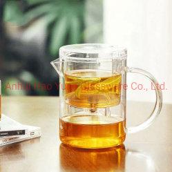 insieme di tè di vetro di corsa della tazza di tè della tazza della qualità superiore 350ml