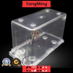 8개의 갑판 트럼프패 갑판 카드 둥근 천장 일반적인 버리기 상자 (YM-DM01)를 위한 카지노 부지깽이 테이블 카드 홀더 상자