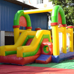 Aufblasbare kombinierte Spielwaren mit springendem Prahler und Plättchen für Kind-Vergnügungsparks