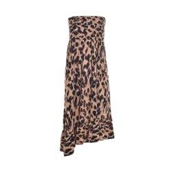 Haut du tube Sexy Leopard Boob jupe pour mesdames robe de nouvelle conception