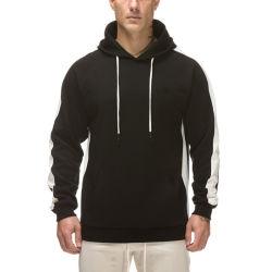 Mayorista de OEM Colorblock Pullover negro sudaderas con capucha con cadenas blanco
