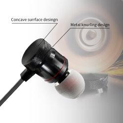 Металлические Sinbeda низкочастотного звука наушники-вкладыши спортивные наушники с микрофоном для гарнитуры Fone Xiaomi Samsung Huawei де Ouvido Auriculares MP3