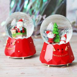 Meilleure vente Boîte à musique de Noël Boule de cristal pour la promotion