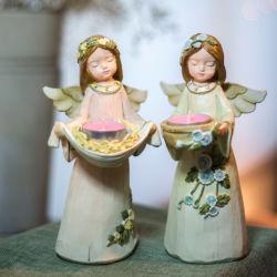 Садовый резин Молочный чай Светлый держатель свечи для дома Декор