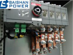 Le panneau des commutateurs de transfert automatique ATS Threephase 100 AMP à 4 pôles Contacteurs Schneider Electric ABB Commutateur Commutateur de transfert automatique avec distribution de puissance