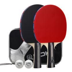 2本のラケットによってセットされるLoki C3000 OEMの卓球ラケット2つの球