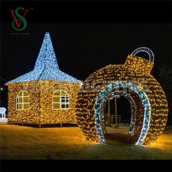 Zhongshan IP65 Wasserdichtes 3D LED-Kugellicht Weihnachtsschmuck 60 cm Anhänger Aluminium Kugellicht