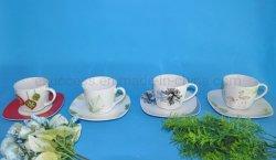 L'os de la Chine usine de gros de la tasse de Café Tasse et soucoupe en porcelaine Set