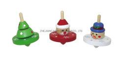 Giocattoli di legno educativi per il regalo dei capretti, parte superiore di filatura di natale di 22879 Lindatoy