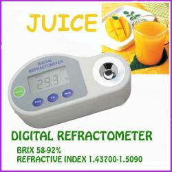 Rifrattometro digitale tascabile 58-92%Brix, indice di rifrazione: 1.4370-1.5090
