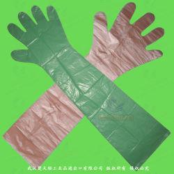 Одноразовые пластиковые/полиэтилен/полимерная/HDPE/LDPE/EVA/PE ветеринарные перчатки с длинными рукавами для животных