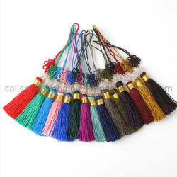 Características chinas adornos regalos Borla nudo chino de seda para invitación