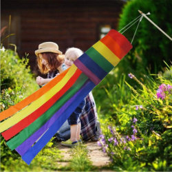 Windsock Rainbow con clip per decorazioni con appicantimento all'aperto