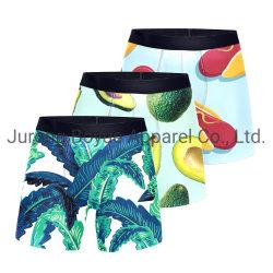 En blanco de la moda al por mayor de la sublimación de etiqueta privada de la compresión de impresos personalizados Mens Boxer Briefs calzoncillos