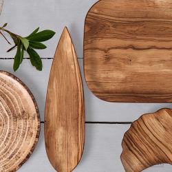 Placa de Steak de madeira nórdica criativa cerâmica ocidental da placa de comida Pizza Stock Heart Plate Home Western Restaurante Japão e Sul Placa cerâmica da Coreia