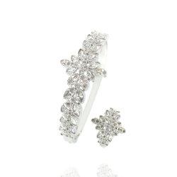 Accessori d'argento di cristallo dell'abito del braccialetto del braccialetto dei monili di modo