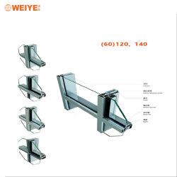 De populaire Gordijngevel van het Aluminium Met Frame Invisiable in Foshan