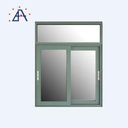 Windows di alluminio e scivolamento di vetro di alluminio dei portelli doppio