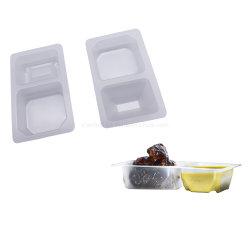 Bandeja de plástico termoformado PP salsa embalaje blister