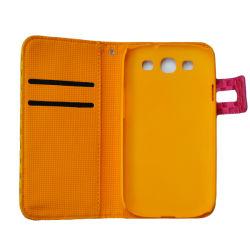 Pour Samsung Galaxy S3 I9300 Flip Housse étui en cuir de luxe, portefeuille en cuir de luxe avec logement de carte de couvercle de carter pour Galaxy S3