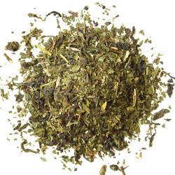 Naturel de menthe scellé de thé vert à l'intérieur bas de la coupe du papier