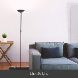Bright LED lámpara de piso Torchiere Salón & Office blanco cálido verano regulable luz superior de la lámpara de pie modernas recordar la última opción