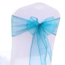 China Azul pura cátedra de alimentación de Organza guillotinas para banquetes de boda la decoración en stock