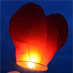 Amantes de la forma de corazón deseo Sky Lantern (JH-Lote-25)
