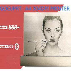 Impressão térmica direta de um portátil móvel4 Impressora Fotográfica USB Bluetooth sem fio Preto e Branco