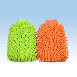 Mitt van de Autowasserette van Chenille van Microfiber Schoonmakende Mitt van de Was van de Handdoek (CN1401)