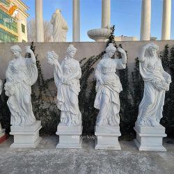 White Marble Stone Four Seasons Life Size Godin Statue