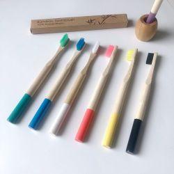 Bamboo-tandenborstel Amazon Hot Selling 100% biologisch afbreekbaar product voor volwassenen Bamboo Producten rond handvat met kleur