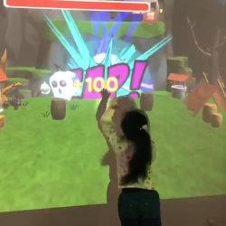 Simulación de realidad virtual arma de bala suave Juego de pared de proyección interactiva 3D Equipo