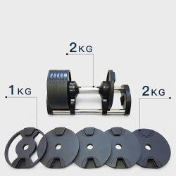 مصنع اللياقة البدنية كروس فيت البضائع الرياضية سداسي دمبل قابل للضبط وزن الجنيه دمبل راك كرة حديد