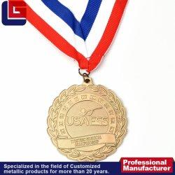 Custom Design redondo comemorativas barata vencedor Medalha de Ouro