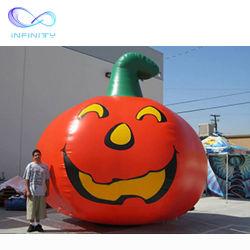 Inflable de 3D de calabaza de Halloween Decoración de patio gigante al aire libre Calabaza Decoración hinchables para publicidad