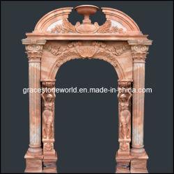 Porte de marbre sculpté, entoure la trappe à pierres (GS-D-002)