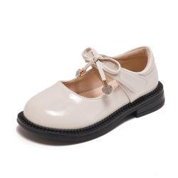 핫셀러 걸스 스쿨 신발 어린이 패션 캐주얼 댄스 가죽 신발(SXW21-JL907)