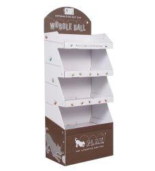 Soporte de cartón plegable de supermercados de venta personalizada cartón piso muestra portátil