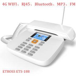4G el teléfono de escritorio Ets-188 4G SIM/WiFi/Bluetooth/MP3/Internet/Radio FM