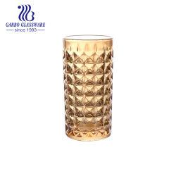 도매 이온은 황금 장식적인 Highball에 의하여 새겨진 10oz 위스키 유리제 컵 GB040910jzt-1-Dda를 도금했다