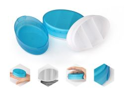 Silicone Portable 3 compartiments de la médecine des pilules Boîte de rangement Mini-étui de voyage