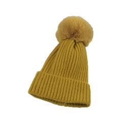 100%のアクリル材料および大人の年齢別グループカスタムパッチの冬の帽子