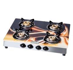 L'impression numérique Céramique/Sérigraphie cuisinière à gaz Table de cuisson en verre trempé